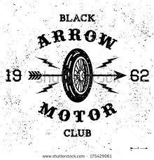 Vintage Label Black Arrow Motor Club 175429961
