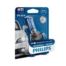 philips whitevision h11 car headlight bulbs powerbulbs
