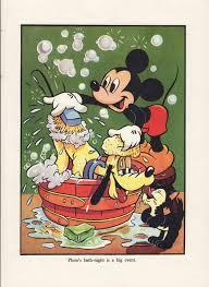 Mickey Minnie Bathroom Decor by Antique Print Mickey Mouse And Pluto 1940s Walt Disney Print