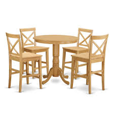 5 Pc Counter Height Dining Room Set - High Top Table And 4 Kitchen Chairs.  By East West Furniture Kitchen Design Table Set High Top Ding Room Five Piece Bar Height Ideas Mix Match 9 Counter 26 Sets Big And Small With Bench Seating 2018 Progressive Fniture Willow Rectangular Tucker Valebeck Brown Top Beautiful Cool Merlot Marble Palate White 58 A America Bri British Have To Have It Jofran Bakers Cherry Dion 5pc