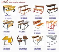 100 College Table And Chairs Double School Desk Bench Student Desk Attached
