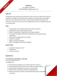 Resume Examples For Receptionists Combined With Dental Receptionist Sample Prepare Remarkable Objective Position
