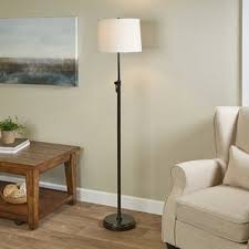 Curved Floor Lamp Next by Height Adjustable Floor Lamps You U0027ll Love Wayfair
