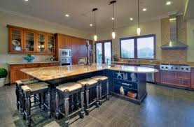 Luxury Granite Kitchen Island With Seating For 5