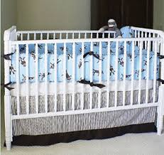 Sock Monkey Crib Bedding by Monkey Nursery Mural