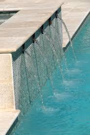 travertine pool coping and field tile vihara glass pool waterline
