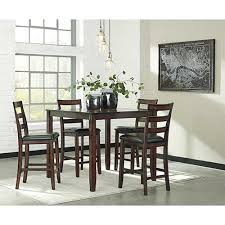 Signature Design By Ashley Coviar 5 Piece Counter Height Dining Set Room View