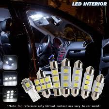 8x white bulbs led interior light l kit for car 2008 2013