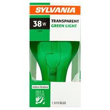 sylvania a19 38w transparent green light bulb walmart com