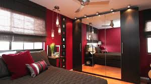 Awesome Nice Design Of The Young Man Bedroom Decorating Ideas That Has Wooden Floor And Also Brown Carpet Can Add Beauty Inside With Black Cabinet