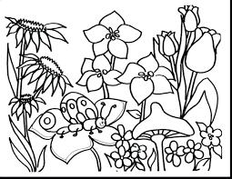 Free Printable Spring Coloring Pages For Kindergarten And Summer Sheets Printables Unbelievable Flower Garden K