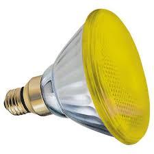 13473 ge outdoor floodlight 85 watt yellow par38 1 pack yard
