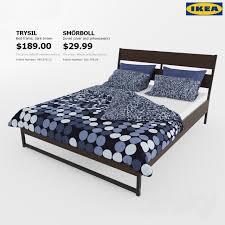 3d models bed trysil ikea ikea smorbol