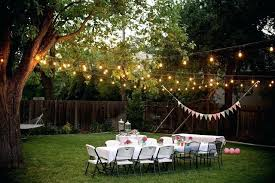 Outside Party Lights Ideas Backyard With White Theme String