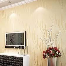 lingjun modern minimalist tapeten vlies wasserpflanze muster 3d beflockung geprägte wandbilder wohnzimmer schlafzimmer gelb