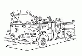 Fire Truck Printable Coloring Pages With Free To Print