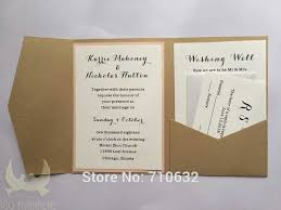Silk Wedding Invitations Box Flocking Invitation Pocketfold Card