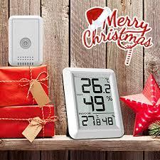 thermo hygrometer mit außensensor innen außen thermometer