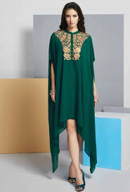 bottle green readymade long ladies top kurti nikvik usa
