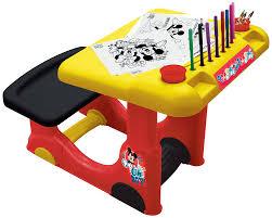 premier bureau enfant faro faro5416 loisirs créatifs bureau à dessin mickey