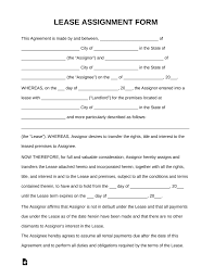 100 Commercial Truck Lease Agreement Free Assignment Of Form PDF Word EForms Free Fillable