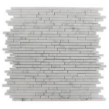 splashback tile 1 4 in x random white pattern