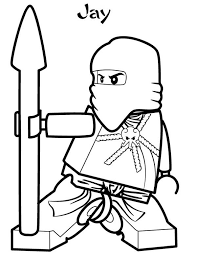 Lego Ninja Go Jay The Blue Of Lighting Coloring Pages