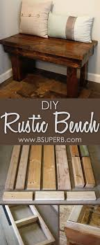 Inexpensive Rustic Wooden Bench Seat