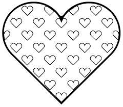 Heart And Love Free Easy Coloring Pages