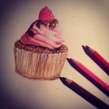 Watercolor Pencils Cupcake by christmasevedeer Watercolor Pencils Cupcake by christmasevedeer