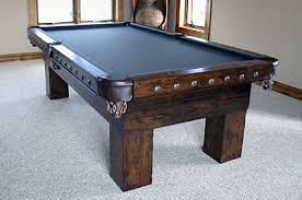 American Prarie Bitteroot Rustic Pool Table