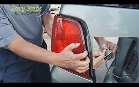 how to replace rear signal light brake light bulb hazard