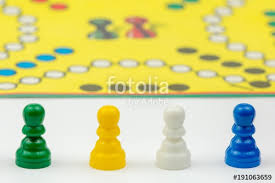 Board Game With Different Colored Pawns On It Ludo Or Sorry Play