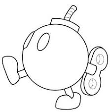 Mario Kart Bomb Omb Coloring Page Pages Boys Video Games Free Online And Printable