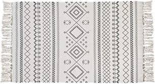 ustide boho chic baumwolle quaste teppich 2x3 bohemian badezimmer teppich grau küchenmatte handgewebt baumwolle bereich teppich läufer für wohnzimmer
