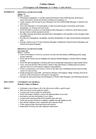 Regional Sales Manager Resume Sample 15 Resumes For