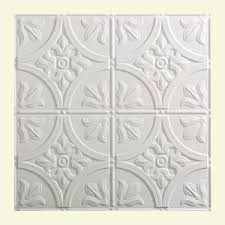 Fasade Decorative Thermoplastic Panels Home Depot by Fasade Traditional 2 2 Ft X 2 Ft Lay In Ceiling Tile In Gloss