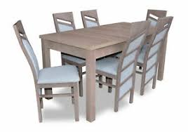 details zu esszimmer garnitur tisch 6 stühle stuhl set essgarnituren tische essgruppe