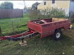 Pickup Bed Trailer Build From Scrap Leftovers