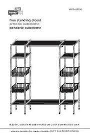 honey can do freestanding steel closet with basket shelves