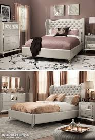 This Bedroom Set Is Fit For A Queen Just Look At Those Mirrored Accents On