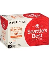 Seattles Best CoffeeTM Toasted Hazelnut Coffee K CupR Pods 10 Ct Box