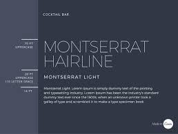 Font Pair Montserrat Hairline & Montserrat Light