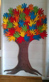 A Tree Made From My Children Hand Prints I The Trunk Cardboard Box