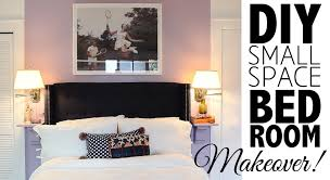 Home Furniture Style Room Diy by Diy Small Space Bedroom Makeover Home Decor Youtube