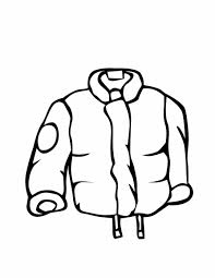 cold winter clothes Coloring pages for kids