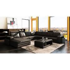 canape angle panoramique canapé d angle panoramique en cuir noir 10 places havane achat