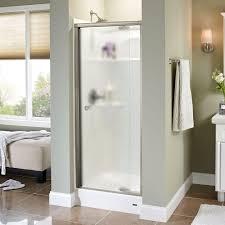 Delta Mandara Faucet Collection by Delta Mandara 31 In X 66 In Semi Frameless Pivot Shower Door In