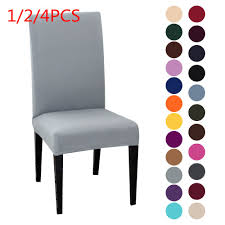 US $0.7 33% OFF 1/2/4PCS Solid Color Chair Cover Spandex Stretch Elastic  Slipcovers Chair Covers White For Dining Room Banquet Hotel Kitchen-in  Chair ... Blancho Bedding 2 Piece Sets Of Elastic Chair Slipcovers Stretch Sofa Covers Cover Couch For 1 3 Seater Slipover Top Quality New Winter 1234 Thickened Sofa Cover Case Living Room Details About Easy Fit Lounge Protector 124x High Back Ding Knit Compare Idyllic Plant Print 4 Rowe Easton Casual And A Half With Slipcover Belfort Parson Life Is Party Best Sale 6847 1246pcs White Loviver 124pcs Removable 1246pcs Spandex Chairs Detachable Solid Color For Banquet Hotel Kitchen Wedding