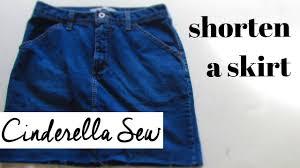 cut the bottom off of a denim skirt distress jean skirts